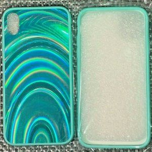NEW-Holo Iridescent Blue Phone Case- Iphone XR